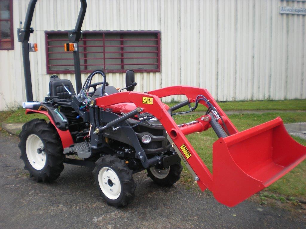 micro tracteur yanmar gk160 avec chargeur occasion espace vert. Black Bedroom Furniture Sets. Home Design Ideas