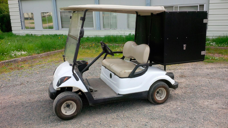 occasion voiturette golf yamaha g29e avec caisson golfette occasion espace vert. Black Bedroom Furniture Sets. Home Design Ideas